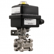 KZ Valve 89 Series 0.5in Stainless Steel Ball Valve 7.0 Second Regulating Actuator